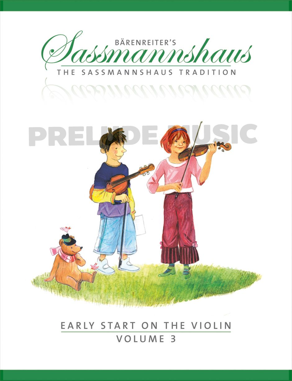 Sassmannshaus Early Start on the Violin Vol.3